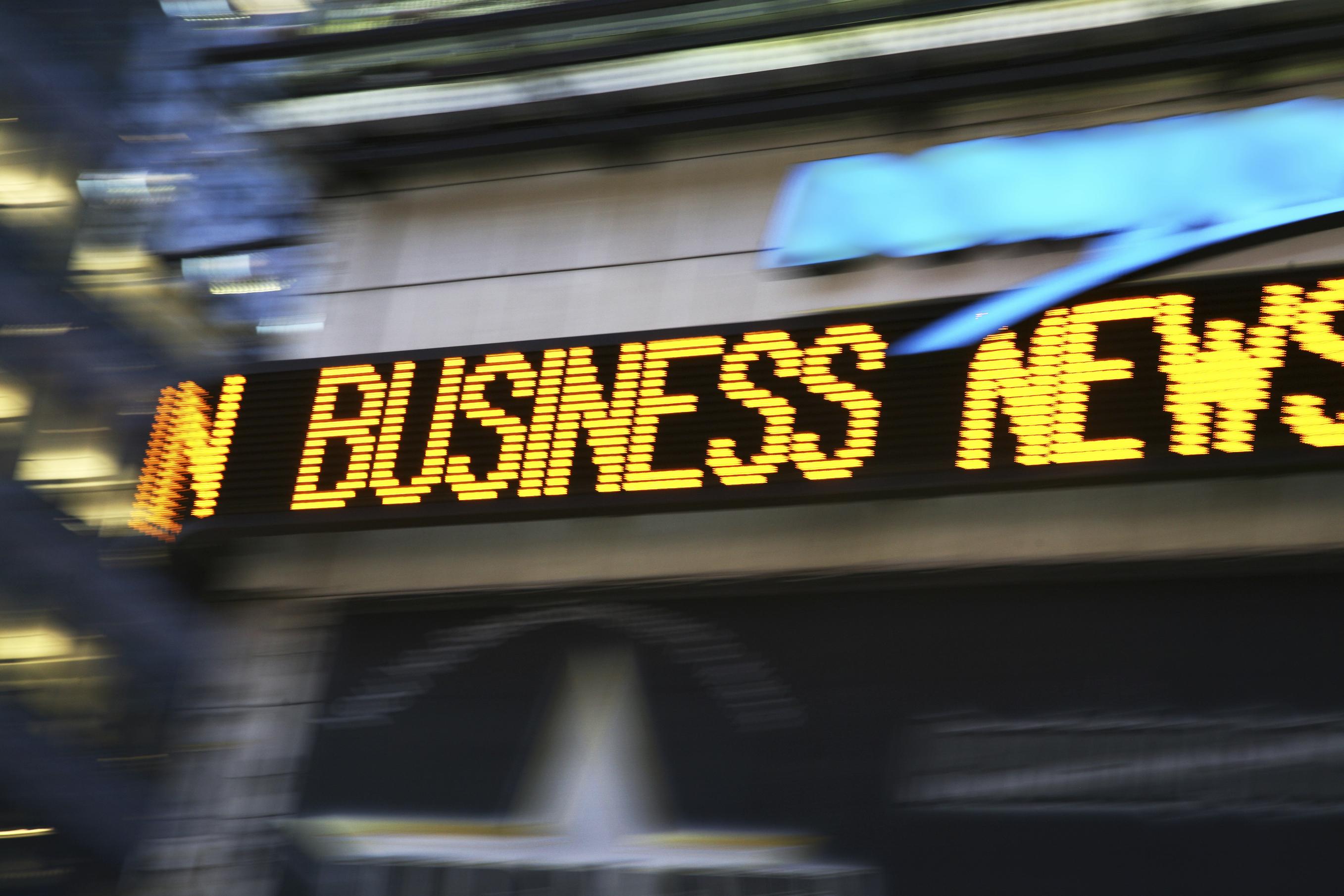 News Ticker Board In Times Square